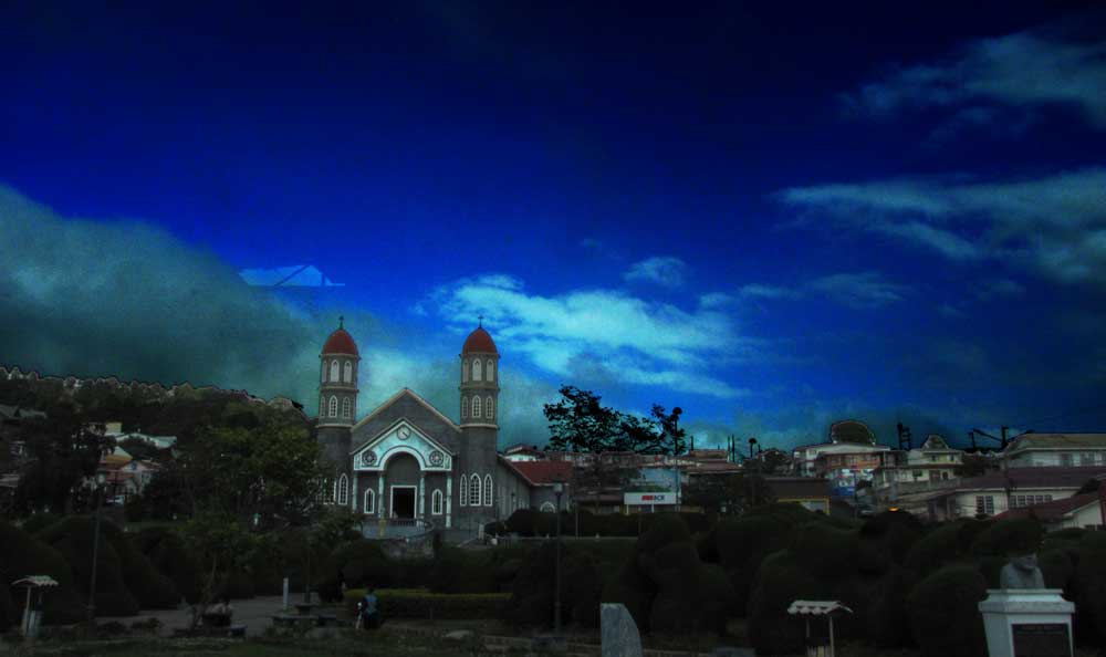 Costa Rica church at dawn